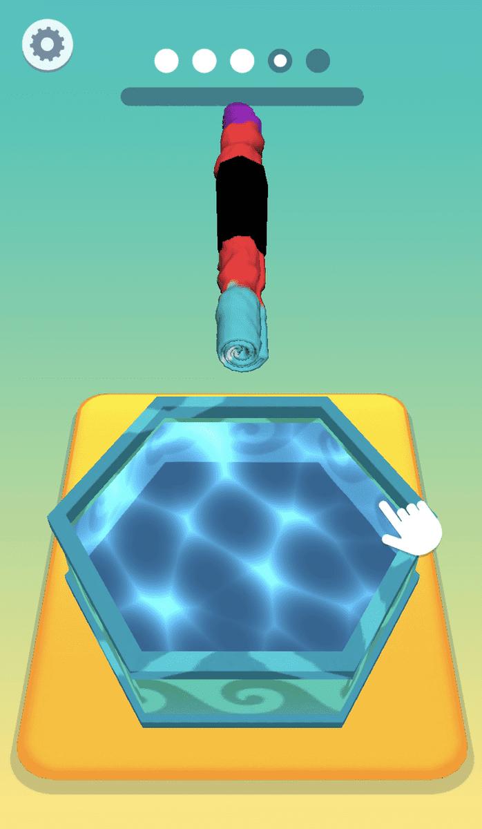 ハイパーカジュアルゲーム「タイダイ」