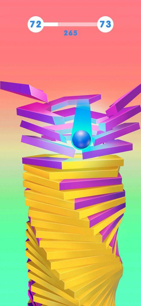 気になっていたStack Ball 3Dを真剣レビュー!ハイパーカジュアルゲームとしての評価はいかに!