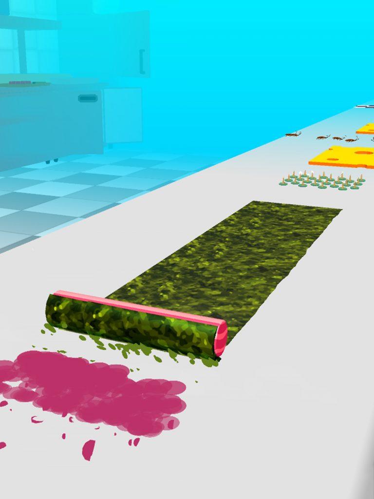 Sushi Roll 3Dってどんなハイパーカジュアルゲームなの? レビューをガチでつけてみた