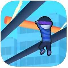 ハイパーカジュアルゲーム「Roof Rails」
