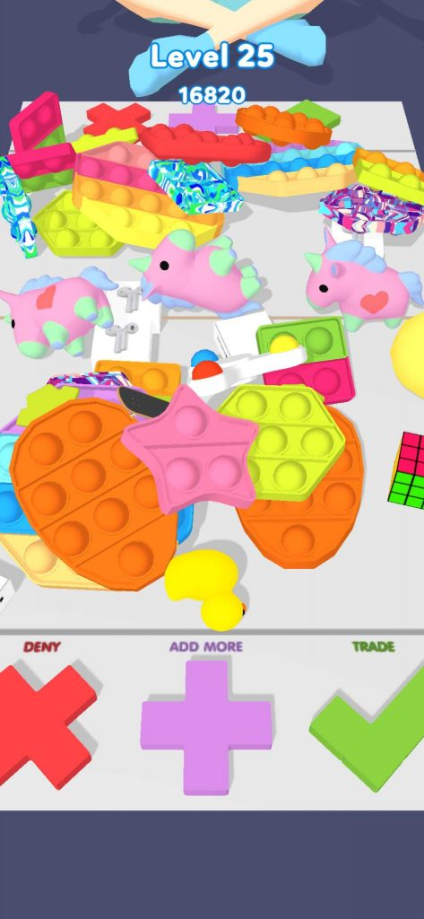 TikTokの動画でおなじみ!?ハイパーカジュアルゲーム「Fidget Trading 3D: Fidget Toys」を分析レビュー!